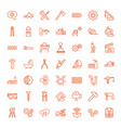 49 industry icons vector image vector image