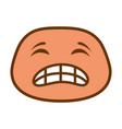 angry face emoji character vector image vector image