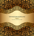 Antique victorian gold ornamental card vector image vector image