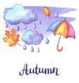 aquarelle background with autumn elements