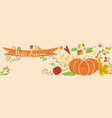 autumn border horizontal decorated pumpkin fall vector image
