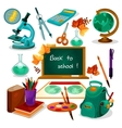 Back to school Supplies and stationery vector image vector image