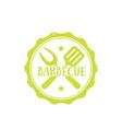 barbecue bbq logo vintage badge vector image