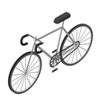 Bicycle icon in monochrome style isolated on white vector image vector image
