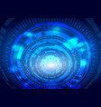 blue abstract futuristic electronic circle vector image vector image