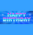 Bright banner happy birthday theme