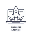business launch line icon concept business launch vector image vector image
