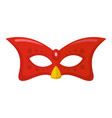 carnival mask icon flat style vector image vector image