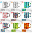collection set of abstract colorful art design for vector image