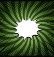 comic book dark green template vector image vector image