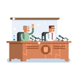 Conference design concept vector image