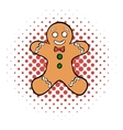 Cookie man comics icon vector image