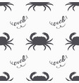 crab silhouette hand drawn seamless pattern vector image