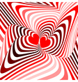 Design hearts twisting movement background vector image vector image