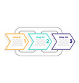 directional 3 three steps modern infographic vector image