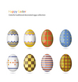 Easter eggs collection vector image vector image