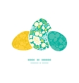 emerald flowerals three matching Easter egg vector image