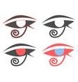 eye of horus ancient egyptian amulet symbol set vector image vector image