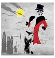 fashion woman in New York vector image vector image