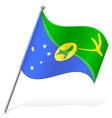 flag of Christmas Island vector image vector image