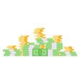 flat big money concept vector image