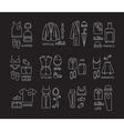Flat clothes complect icons black vector image