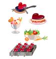 food design elements vector image