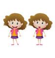 girl wearing purple skirt vector image vector image