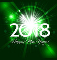 green fireworks with greetings happy new year 2018 vector image vector image