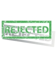 Green outlined REJECTED stamp vector image vector image