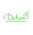 hand drawn lettering word detox vector image