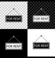 hanging sign with text for rent icon isolated on vector image vector image