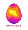happy easter egg paper cut banner vector image