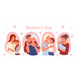 happy mothers day concept with cute family people vector image