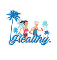 healthy human jogging background image vector image