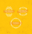 herbal collection boutique handmade organic vector image vector image