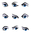 Human eyes set vector image vector image