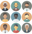 icons set persons male different ethnic vector image vector image
