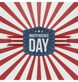 Independence Day striped Background vector image vector image