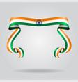 indian flag wavy ribon background vector image