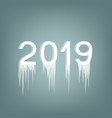 inscription 2019 ice number vector image vector image