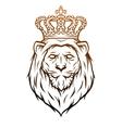King lion heraldic symbol vector image vector image