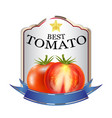 label red tomato ketchup brand logo vector image