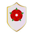 lancastrian red rose shield vector image vector image