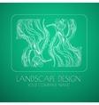 Landscape design emblem vector image vector image