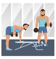 Male Characters Doing Fitness vector image