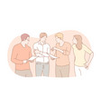 meeting coworking teamwork discussion business vector image vector image