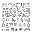 mega black friday sale set icons and objects vector image