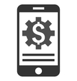 Mobile Bank Options Flat Icon vector image vector image