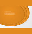 modern simple oval orange and white background vector image vector image